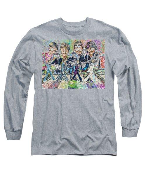 Beatles Tapestry Long Sleeve T-Shirt by Dave Luebbert