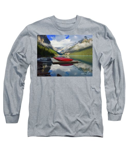 Long Sleeve T-Shirt featuring the photograph Beautiful Banff by Jacqueline Faust