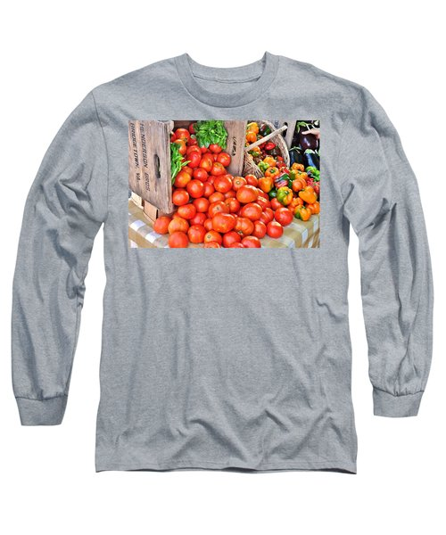 The Bountiful Harvest At The Farmer's Market Long Sleeve T-Shirt