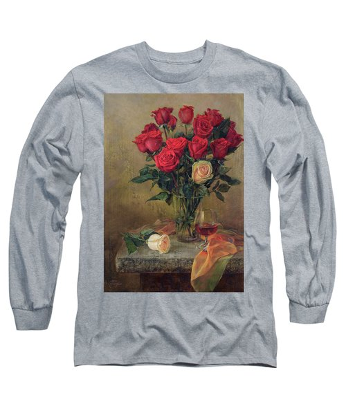 Beautiful Bouquet Of Roses Long Sleeve T-Shirt