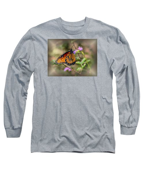 Long Sleeve T-Shirt featuring the photograph Beautiful Butterfly by Elaine Malott