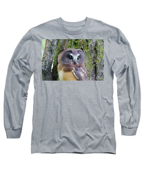 Beautiful Eyes Of A Saw-whet Owl Chick Long Sleeve T-Shirt