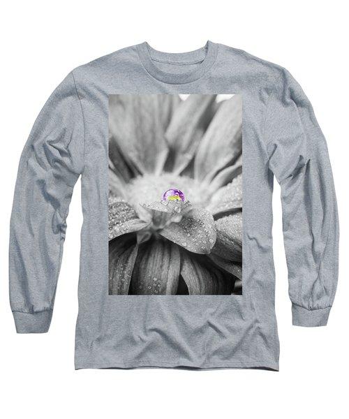 Beautiful Splash Of Purple On A Daisy In The Garden Long Sleeve T-Shirt