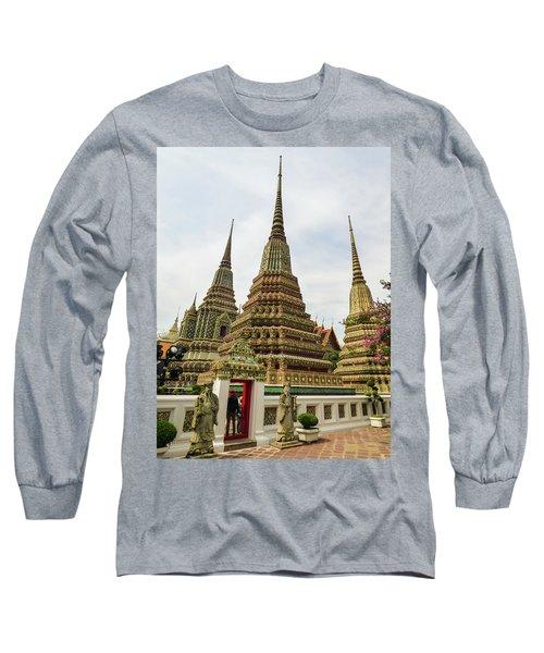 Beautiful Stupas At Wat Pho Temple Long Sleeve T-Shirt
