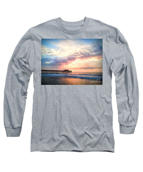 Beautiful Sunrise In Myrtle Beach South Carolina Usa Long Sleeve T-Shirt by Vizual Studio