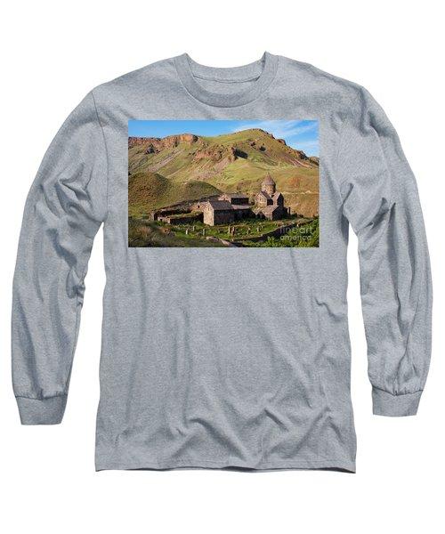 Beautiful Vorotnavank Monastery At Evening, Armenia Long Sleeve T-Shirt by Gurgen Bakhshetsyan