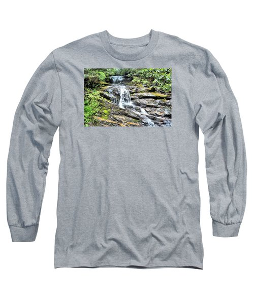 Becky Branch Falls In Summer Long Sleeve T-Shirt by James Potts