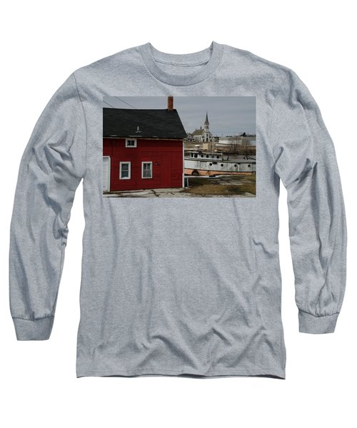 Long Sleeve T-Shirt featuring the photograph Becoming A Part Of A By-gone Era by Janice Adomeit