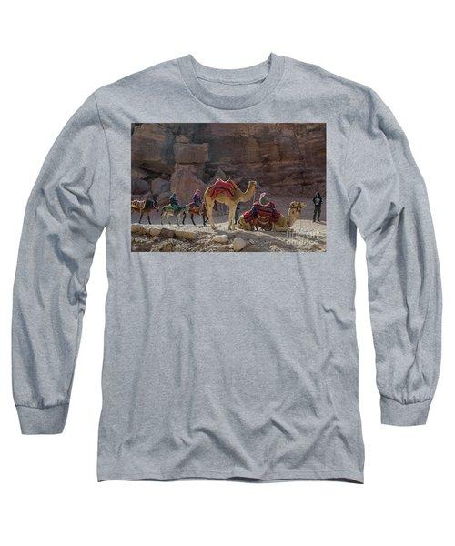 Bedouin Tribesmen, Petra Jordan Long Sleeve T-Shirt