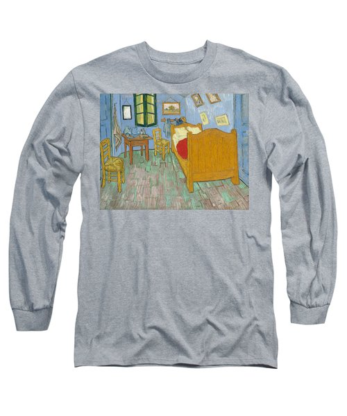 Long Sleeve T-Shirt featuring the painting Bedroom At Arles by Van Gogh