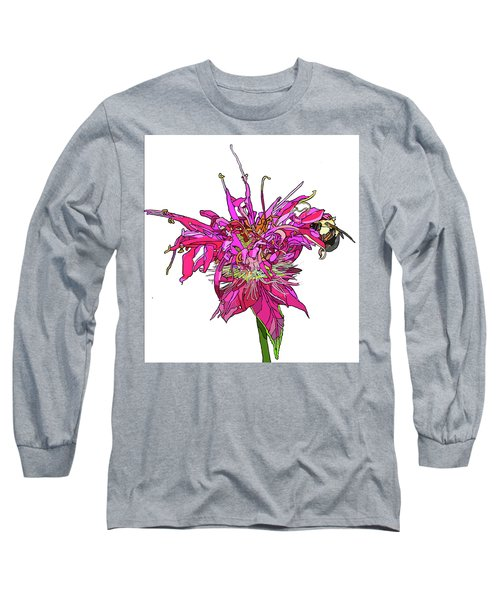 Bee Balm Long Sleeve T-Shirt by Jamie Downs