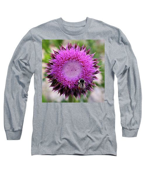 Bee On Thistle Long Sleeve T-Shirt