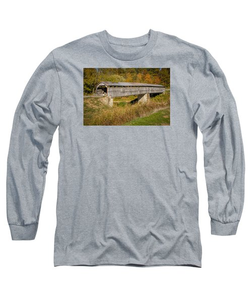 Beech Fork Or Mooresville Covered Bridge Long Sleeve T-Shirt