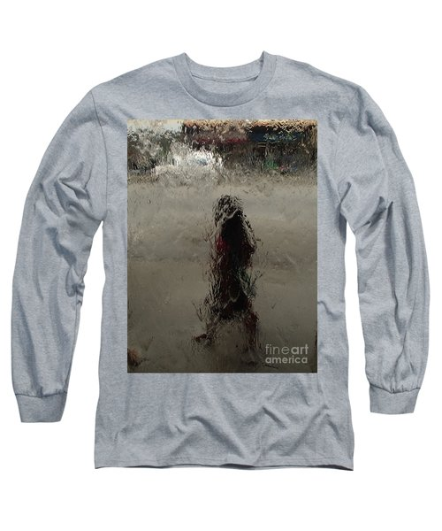 Long Sleeve T-Shirt featuring the photograph Behind Glass by Trena Mara