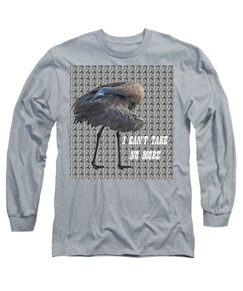 Behind The Feathers Long Sleeve T-Shirt by Audrey Robillard
