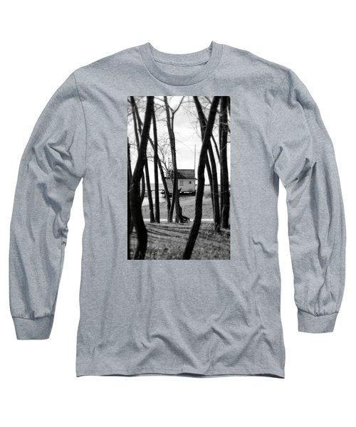 Long Sleeve T-Shirt featuring the photograph Behind The Trees by Valentino Visentini