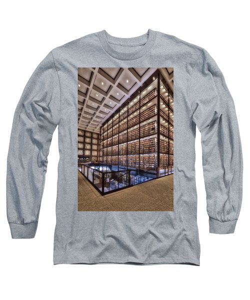 Long Sleeve T-Shirt featuring the photograph Beinecke Rare Book And Manuscript Library by Susan Candelario