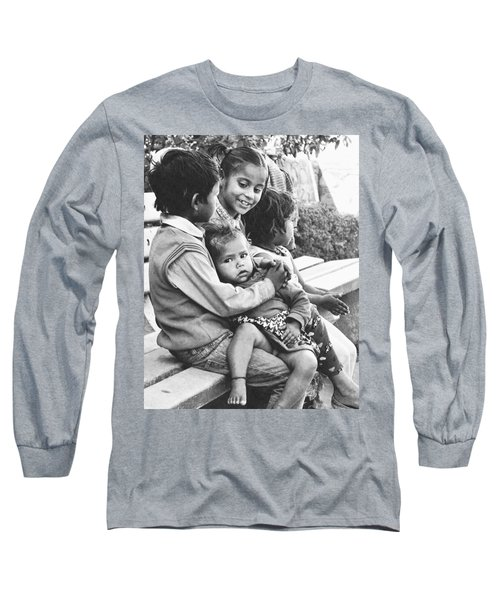 Long Sleeve T-Shirt featuring the digital art Being Together Is Life by Bliss Of Art