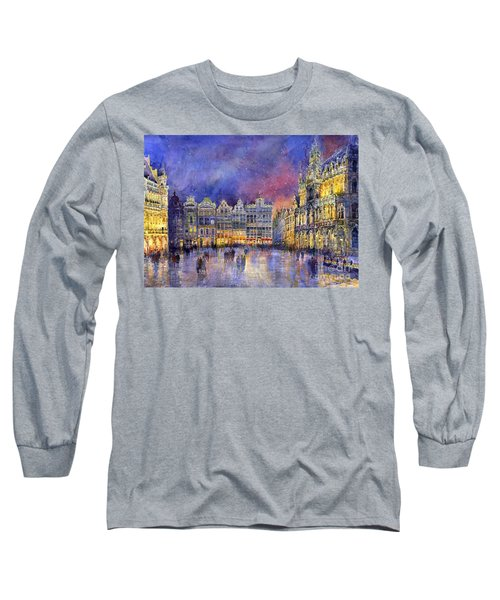 Belgium Brussel Grand Place Grote Markt Long Sleeve T-Shirt