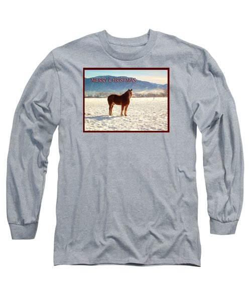 Belgium Draft Horse Christmas Long Sleeve T-Shirt