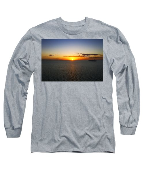 Belize Sunset Long Sleeve T-Shirt by Marlo Horne
