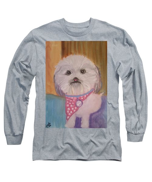 Long Sleeve T-Shirt featuring the painting Bella Baby by Carol Duarte