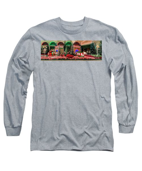 Bellagio Christmas Train Decorations Panorama 2017 Long Sleeve T-Shirt