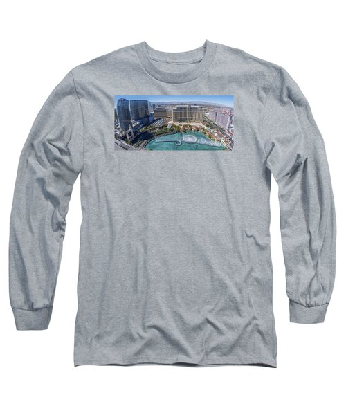Long Sleeve T-Shirt featuring the photograph Bellagio Fountains In The Afternoon by Aloha Art