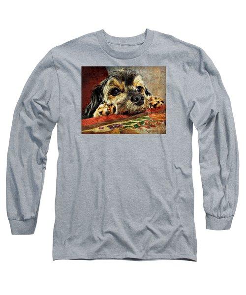 Bella's Thanksgiving Long Sleeve T-Shirt by Kathy M Krause
