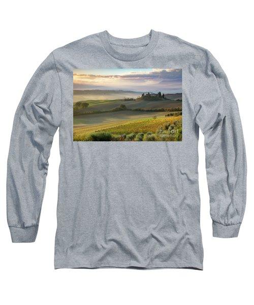 Long Sleeve T-Shirt featuring the photograph Belvedere Morning by Brian Jannsen