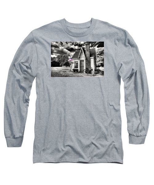 Long Sleeve T-Shirt featuring the digital art Bem Store Pumphouse by William Fields