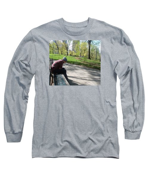 Long Sleeve T-Shirt featuring the photograph Benched by Helen Haw