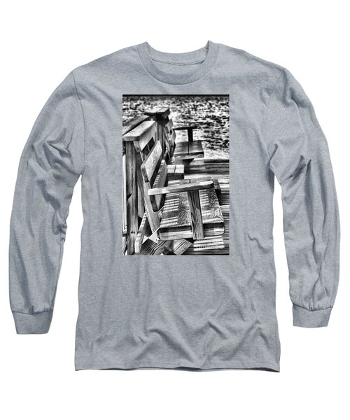 Benches By The Sea Long Sleeve T-Shirt