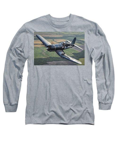 Bent Wing Bird Long Sleeve T-Shirt