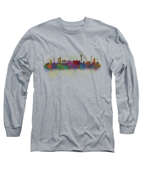Berlin City Skyline Hq 5 Long Sleeve T-Shirt by HQ Photo