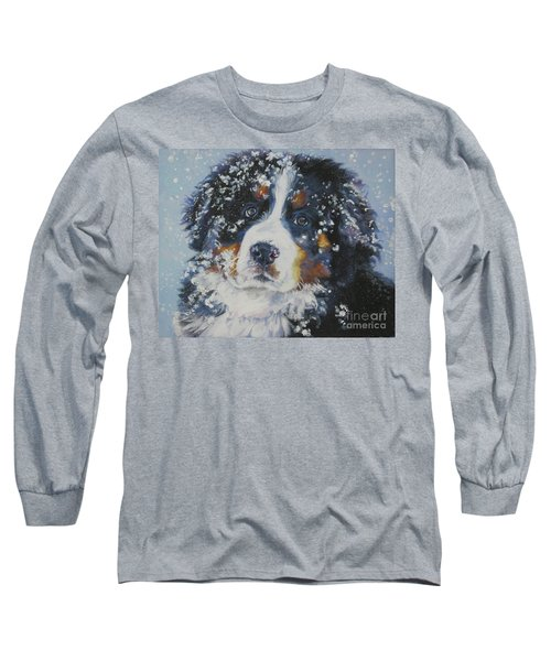 Bernese Mountain Dog Puppy Long Sleeve T-Shirt by Lee Ann Shepard