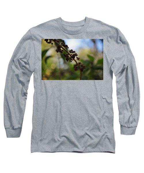 Long Sleeve T-Shirt featuring the photograph Berry Branch by Artists With Autism Inc
