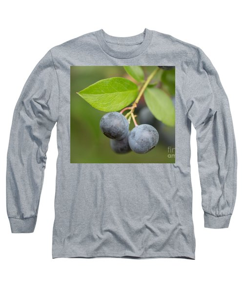 Long Sleeve T-Shirt featuring the mixed media Berrydelicious by Kim Henderson