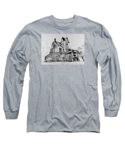 Betsy Ross' Home In Dover, N.j. Long Sleeve T-Shirt by Alan Johnson