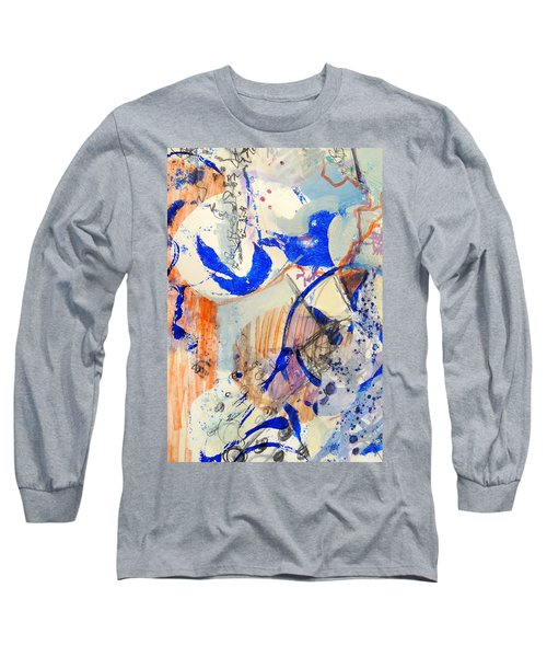 Between Branches Long Sleeve T-Shirt by Mary Schiros