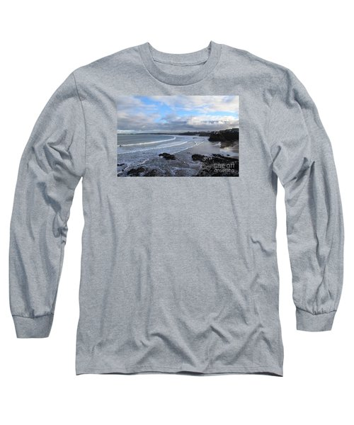 Long Sleeve T-Shirt featuring the photograph Between Cornish Storms 2 by Nicholas Burningham