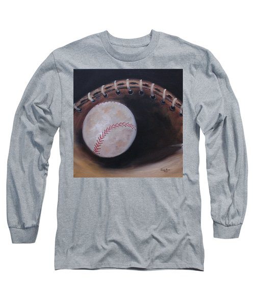 Long Sleeve T-Shirt featuring the painting Between Innings by Judith Rhue