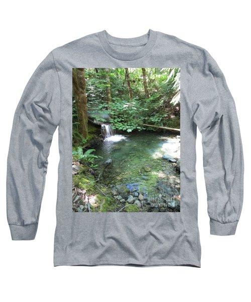 Long Sleeve T-Shirt featuring the photograph Beyond The End Of The Trail At Limpy Creek by Marie Neder