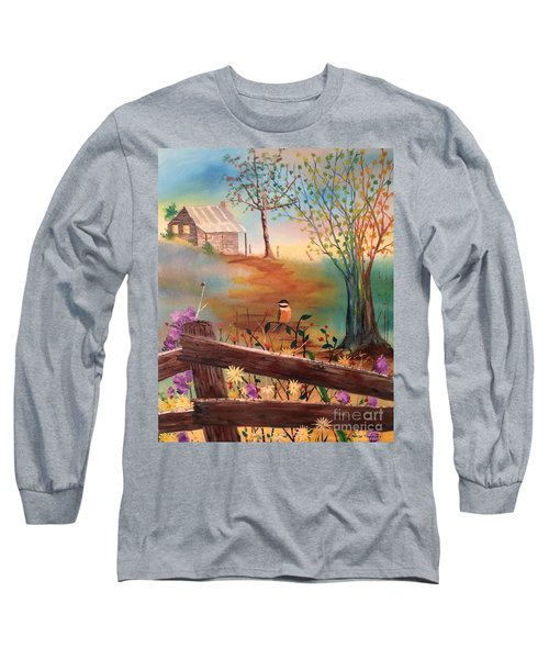 Long Sleeve T-Shirt featuring the painting Beyond The Gate by Denise Tomasura