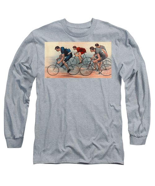 Long Sleeve T-Shirt featuring the photograph Bicycle Lithos Ad 1896nt by Padre Art