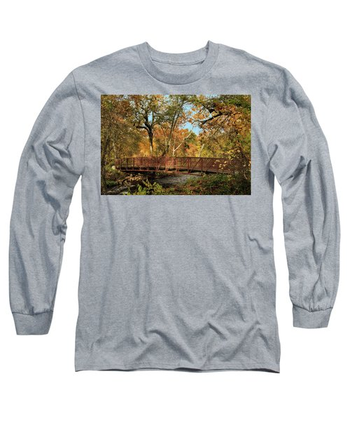 Long Sleeve T-Shirt featuring the photograph Bidwell Park Bridge In Chico by James Eddy