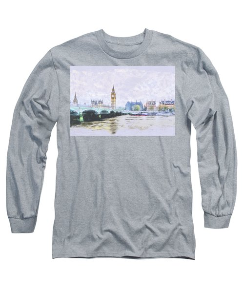 Big Ben And Westminster Bridge London England Long Sleeve T-Shirt