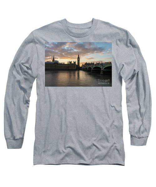Big Ben London Sunset Long Sleeve T-Shirt by Mike Reid