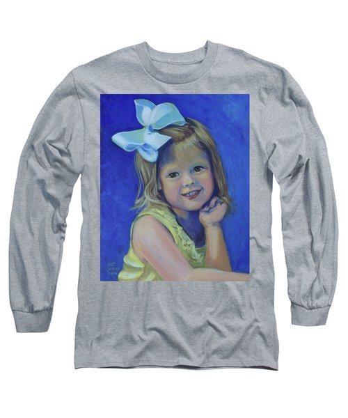 Big Bow Little Girl Long Sleeve T-Shirt