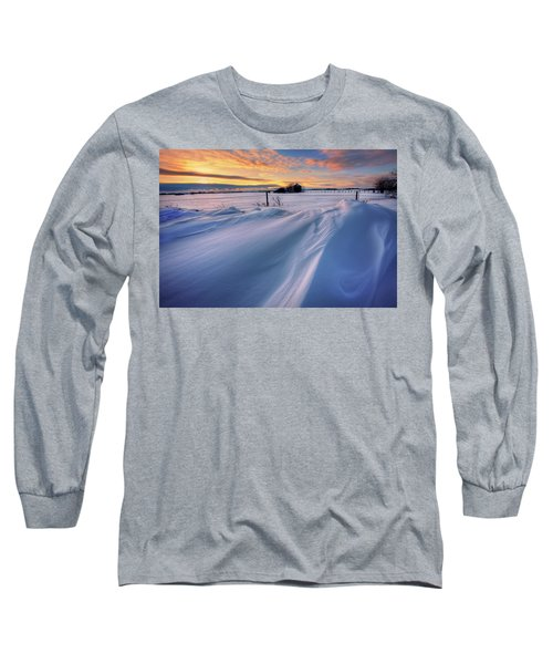 Long Sleeve T-Shirt featuring the photograph Big Drifts by Dan Jurak